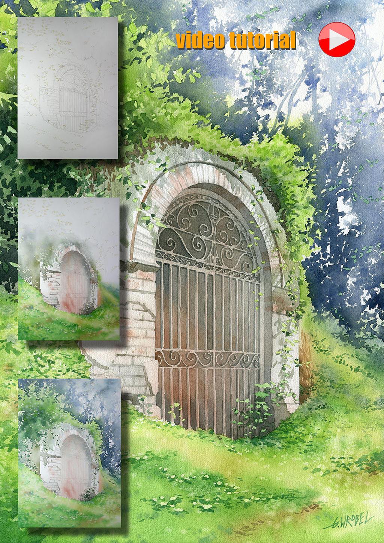 Romantic ruins video tutorial by GreeGW