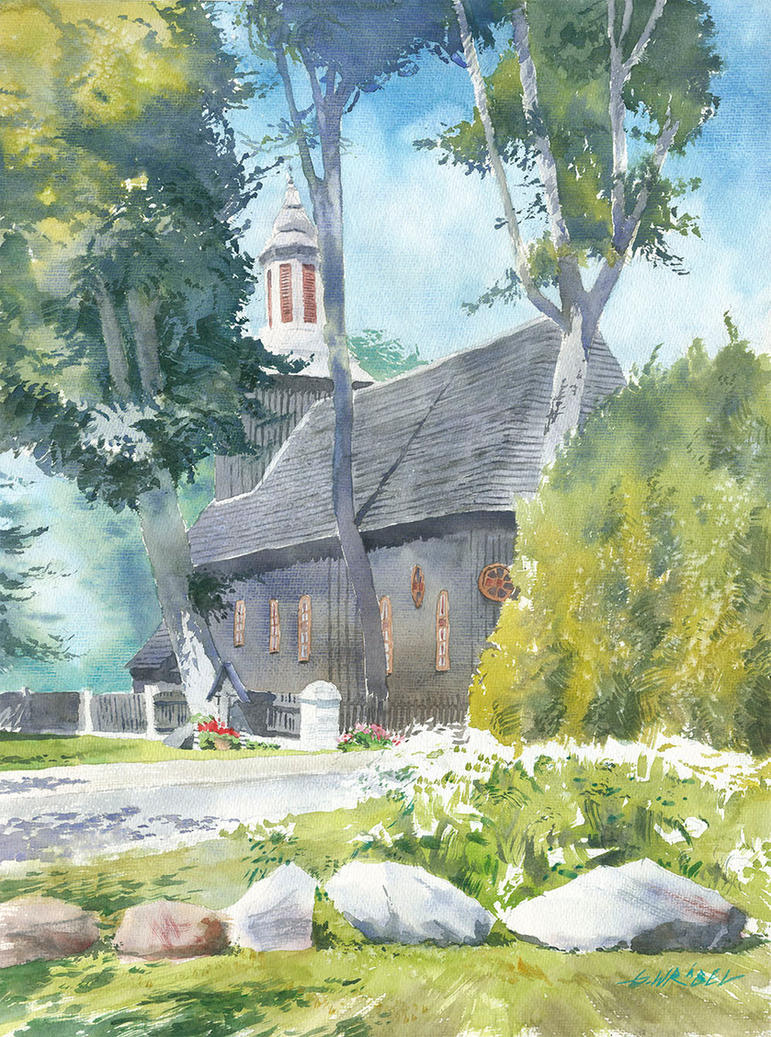 Wooden church in Blizanow by GreeGW