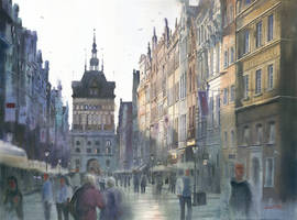 Dawn at Dluga street Gdansk by GreeGW