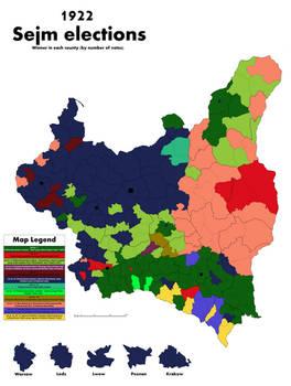 Elections 1922 - winner in each county