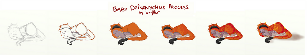 ''Baby Deinonychus'' Process by bryllier