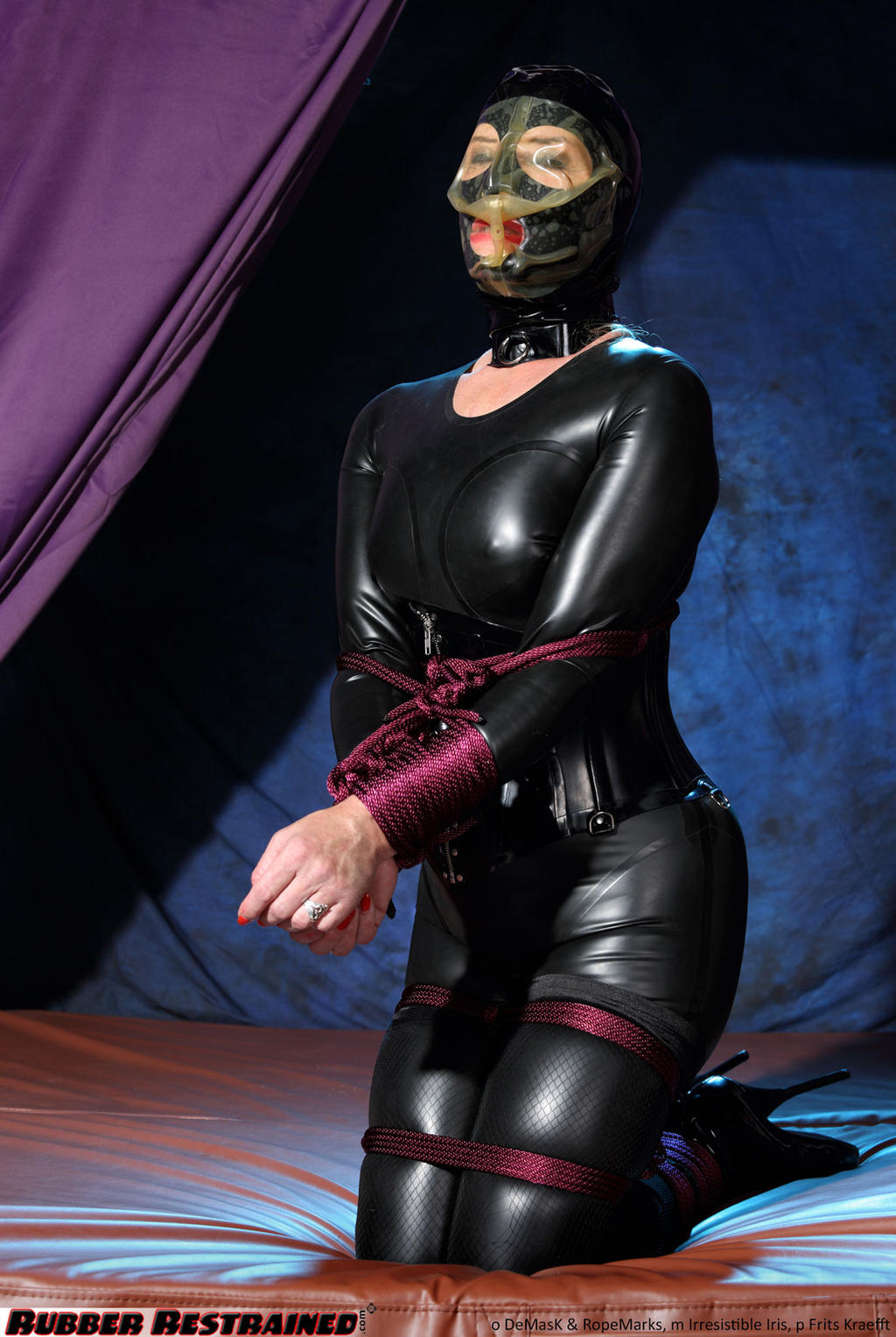 Rubber gagged