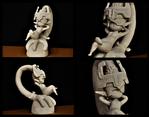 Midna sculpture (uncoloured) by FLSC