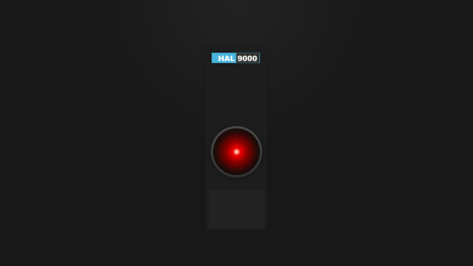 hal 9000 by friedpixl on deviantart