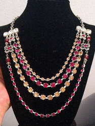 Fire and Gold Necklace