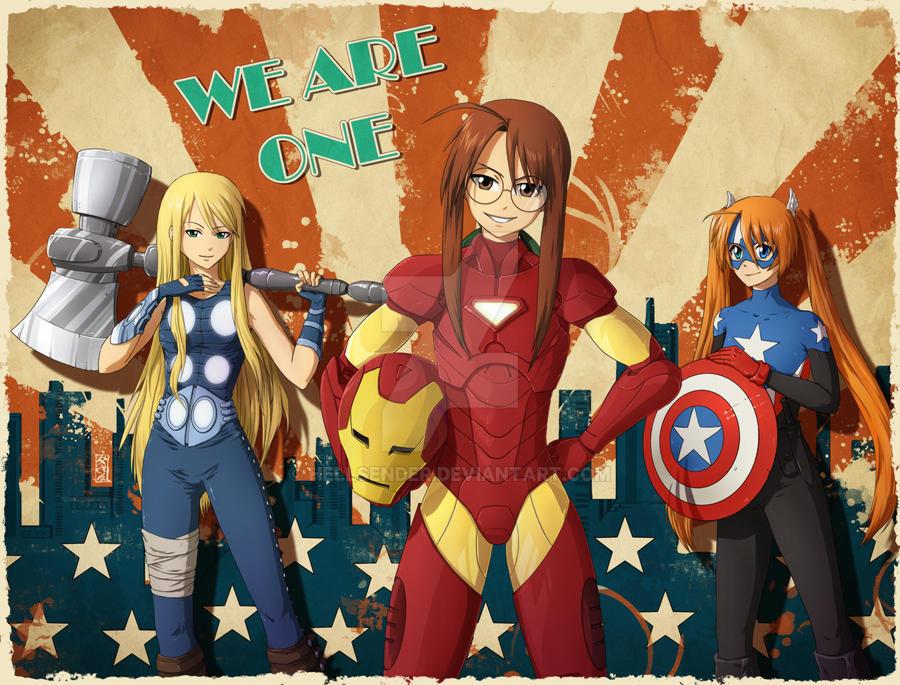 Earth's Mightiest Heroines by Hellsender
