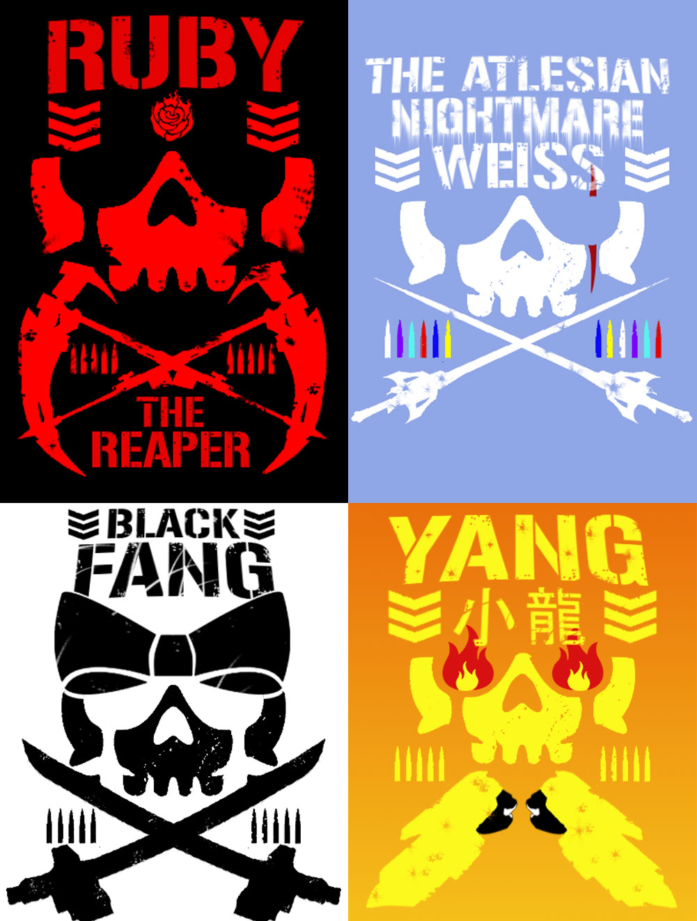 Rwby Bullet Club T Shirt Designs By Hellsender On Deviantart