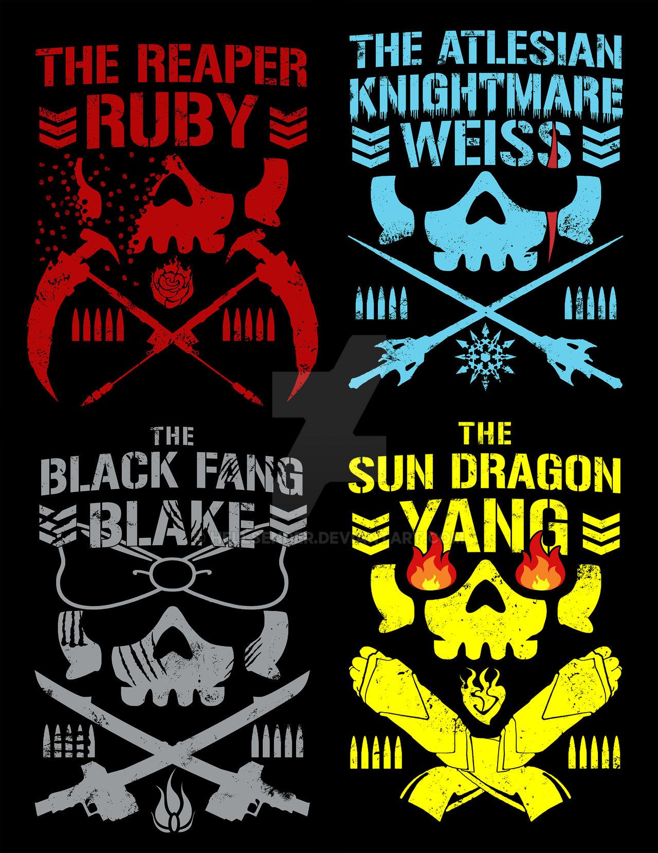 Rwby Bullet Club T Shirt Designs Redux By Hellsender On