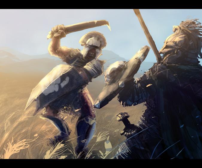 Fighting Uruk Hai Repaint by Merlkir