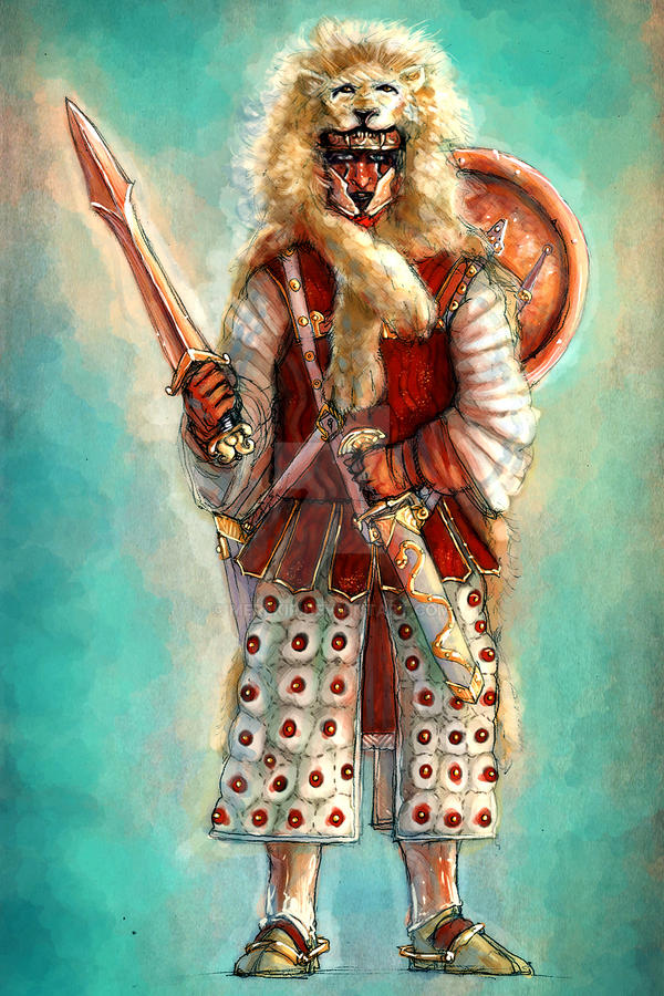 Harad Lion Warrior by Merlkir