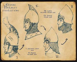 Elven Helmet Evolution by Merlkir