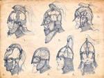 Rohan helmet sketches