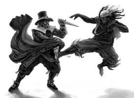 Cloak vs. Capoeira by Merlkir