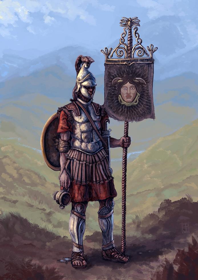 Hellenic Standart Bearer by Merlkir