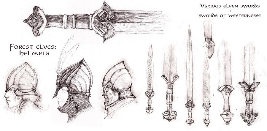 TLD - Elven doodles by Merlkir