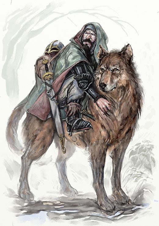 Haken the Warg Rider by Merlkir