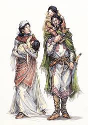 Comati family by Merlkir