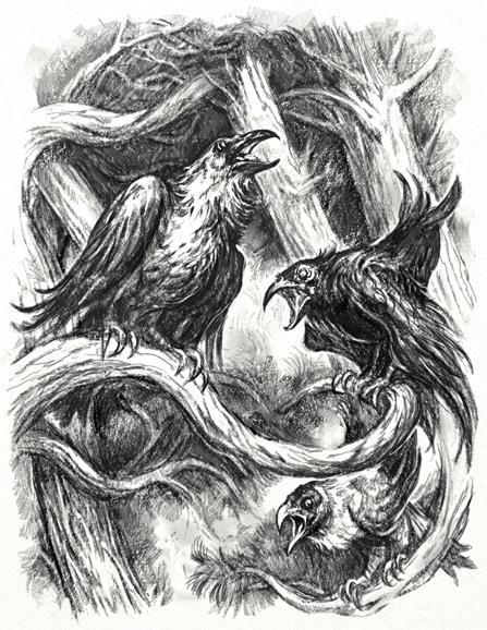 Grey Crows by Merlkir