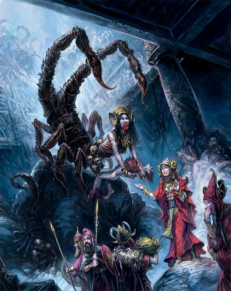 13thAG: Scorpion Queen by Merlkir