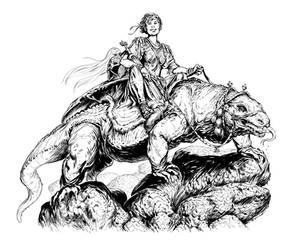 Warrior and Her Rock Lizard