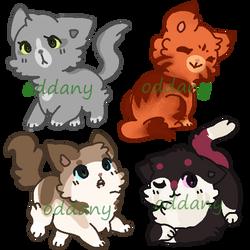 CLOSED Cats OTA adoptable by Shiro3636