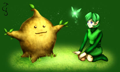 Commission: Saria and Deku Sprout
