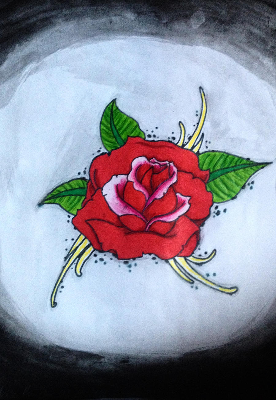 Simple rose tattoo design idea by luxakari on deviantart for Easy rose tattoos