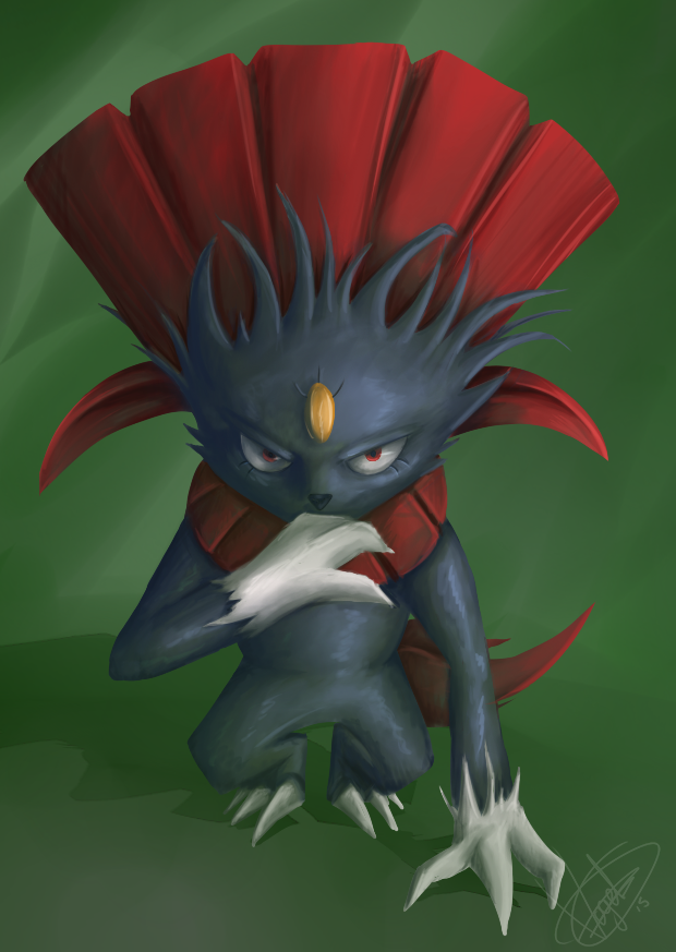 30 Day Pokedex Challenge - Weavile by BoWhatElse