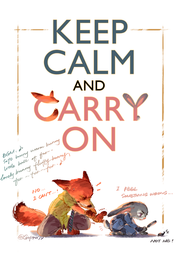 2016 03 08 keep calm and carry on by shirou79 on deviantart