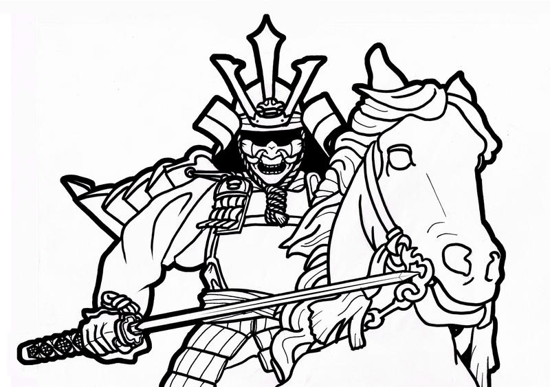 Pictures Of Cool Samurai Warrior Drawings
