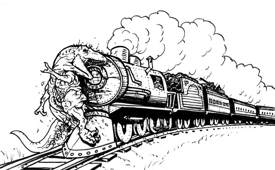 T-rex on the Tracks