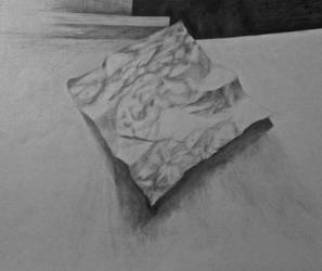 Crumbled paper drawing