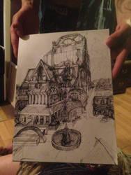 10 minute ink sketch