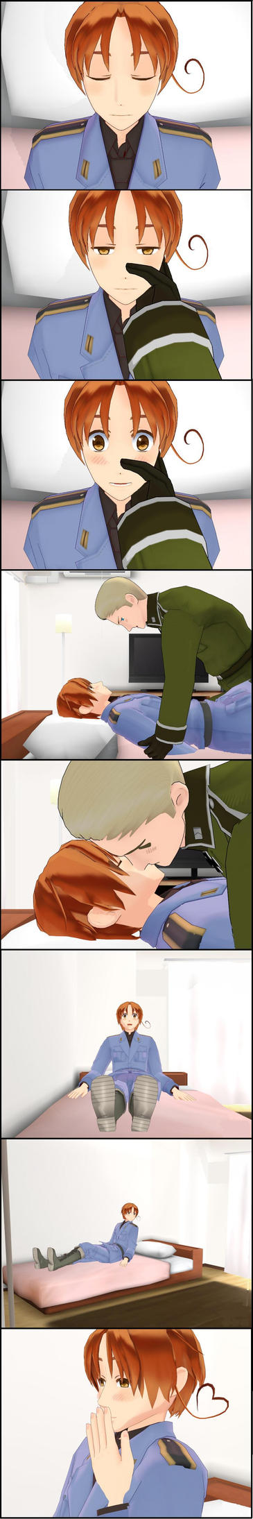 Butterfly kiss (A short Germany X Italy comic) by Story-Teller-Girl