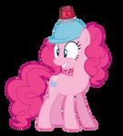 Pinkie in a helmet