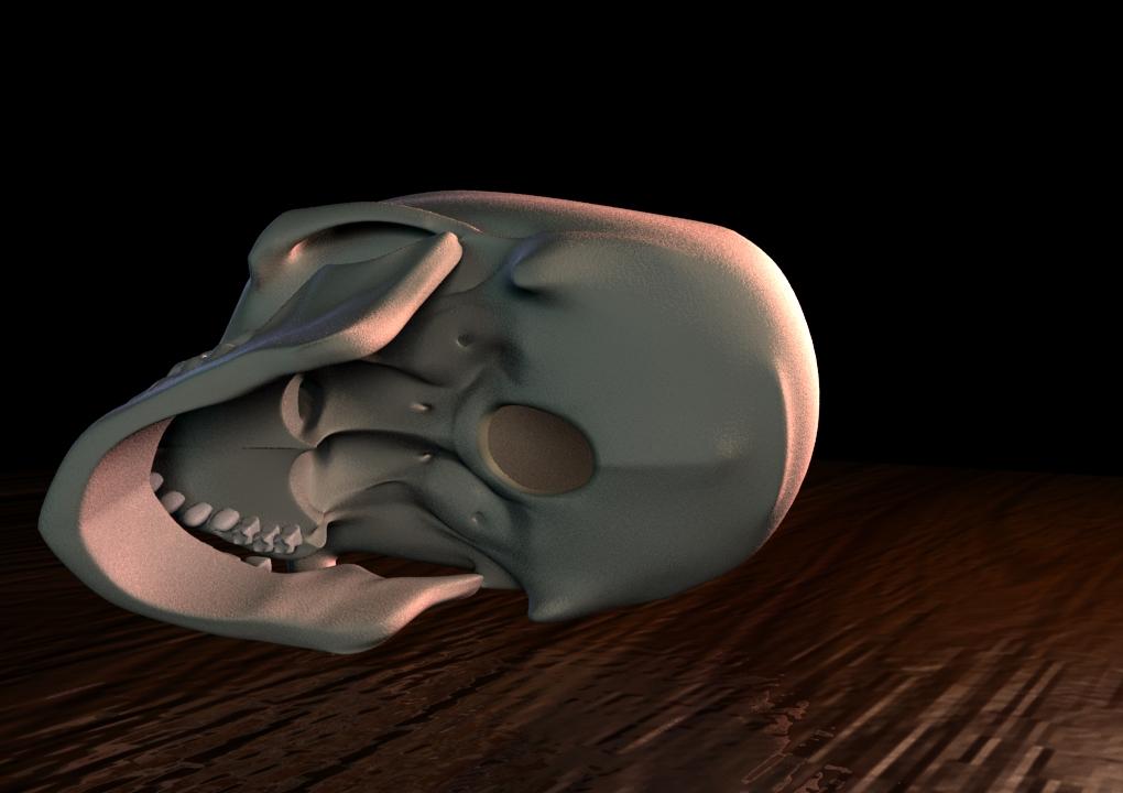 Human Skull II, Underside by Jinshin