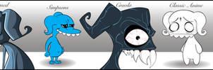 Cartoon Styles by sevasuno