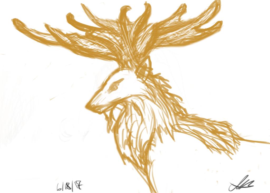 The Forest King sketch by valued-vestige