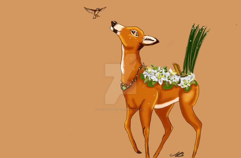 Verdant Deer Gift. Sweet Lilies by valued-vestige