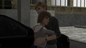 Max And Victora having a hug after school