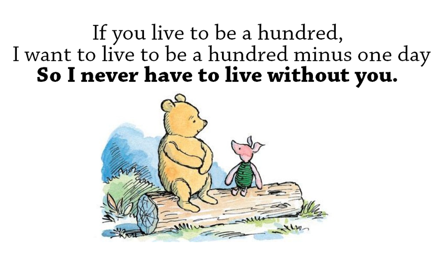 Image result for Winnie the Pooh + if you live to be a hundred