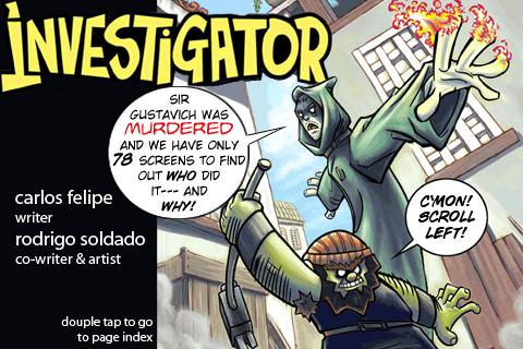 Investigator - cover art by soldado