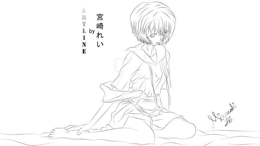 Ayanami Rei Artline by e21krei