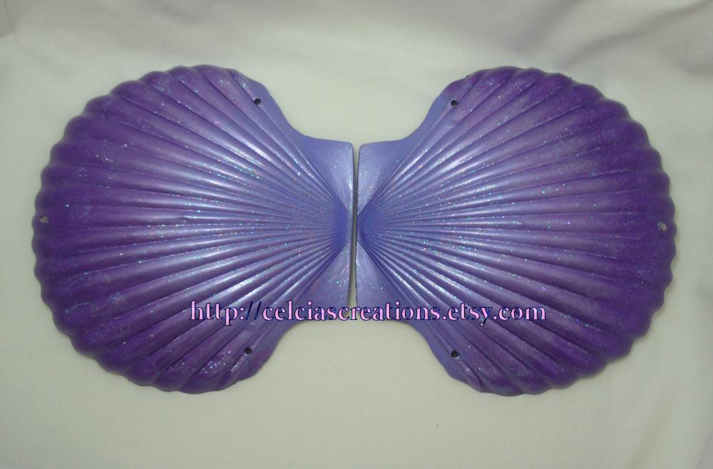 Purple Mist Mermaid Shells by PlutonianNight