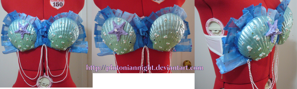 Electronic Mermaid Rave Bra by PlutonianNight
