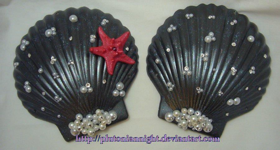 Bejeweled Abyssal Mermaid Bra Shells by PlutonianNight