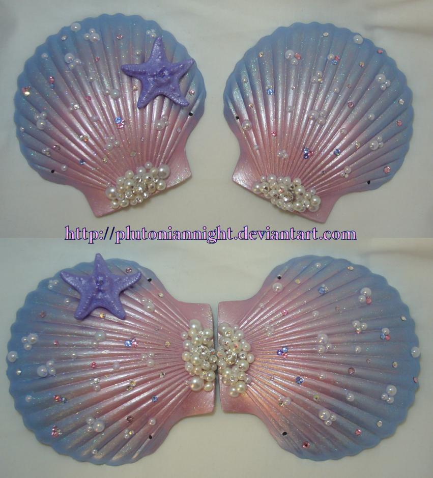 Princess Jewelry Mermaid Seashell Bra by PlutonianNight