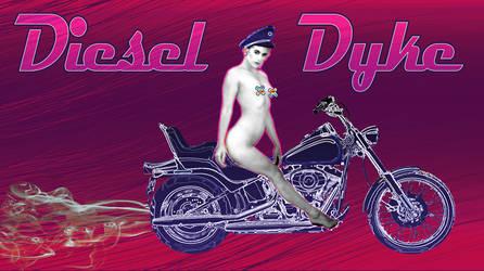 Diesel Dyke - typography by stefamarchwiowna