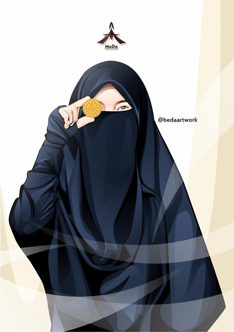 Kumpulan Gambar Kartun Muslimah Syar i Kantor Meme