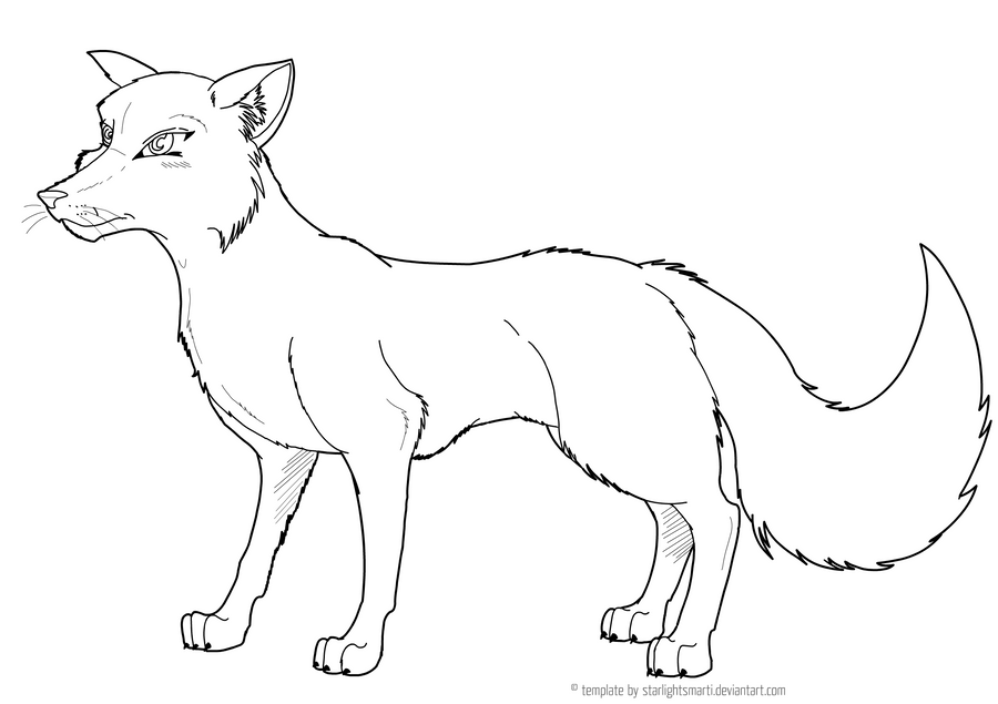 Pin fox drawing stencils hawaii dermatology pictures on for Template of a fox